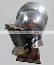 Burgonet Medieval Armour Helmet Brass Bidding Knight Ancient Larp Sca Armor New