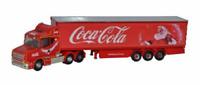N Scale, semi,Truck, tractor trailer rig - Coca Cola Christmas