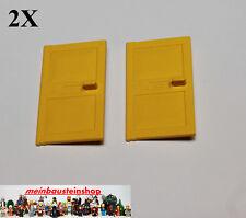 2x LEGO ® 4131 PORTA BATTENTE door 1x4x5 GIALLO YELLOW