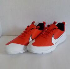 Nike EXPLORER 2 Spikeless Golf Shoes ORANGE WHITE 849957 800 Men Size 13