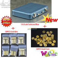1/6th Scene Accessories Bluesuitcase+30PCS GoldCoin+30PCS GoldBricks Model