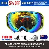 Green Frame Pro skiing snowboarding goggles double lens UV antifog ski goggles