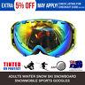 Pro Winter Skiing/snowboard Ski Snow GOGGLES Glasses double lens - Green Frame