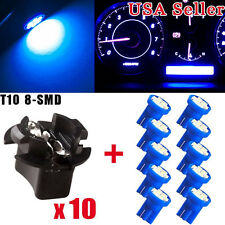 10 x Blue T10 LED Bulb Car Instrument Panel Cluster Dash Light Twist Lock Socket