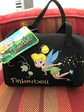 Tinkerbell Fairies Pink Small Duffle Bag black