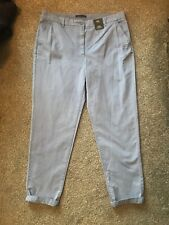 Ladies M&S Chino Trousers Size 18 Short New Blue Lovely On See Pics