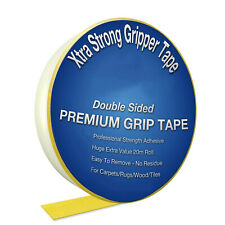 Extra Strong Tape Double Sided Carpet Rug Adhesive Craft Gripper Mesh Sticky UK