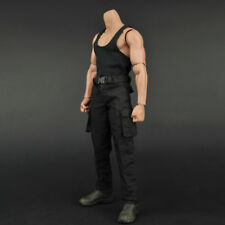 "1/6 Scale Male Tactical Suit Black Vest/Pants/Belt For 12"" Figure Body"