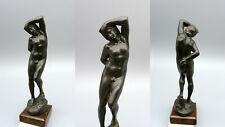 TTR Antike Bronze Figur Skulptur Akt Mann 23cm GLADENBECK & SOHN um 1890 Plastik