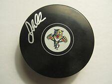 JOHN MADDEN Signed Florida Panthers logo puck AUTOGRAPH