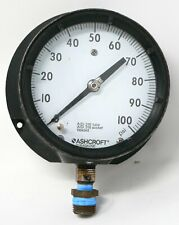 Ashcroft Duragauge AISI 316 Tube and Socket 0-100 PSI USED w/ bezel Q-4832