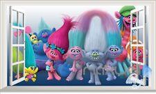 Trolls Colorful Hair 3D Window Wall Decals Sticker Kids Decor Art