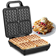 NETTA Belgian Waffle Maker Iron Non-Stick Automatic Temp Square 1200W