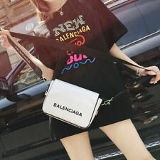 NEW Balenciaga² women's fashion motorcycle bag sling shoulder bag wide shoulder