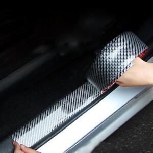 5D Carbon Fiber Car Scuff Plate Door Sill Cover Panel Step Protector 100cm*3cm