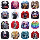 Cool Stylish Men Women 3D Galaxy Space Sweatshirt Hoodie Pullover Tracksuit Top