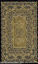 DOILEY GOLD CUTWORK FLORAL LACE FOIL PAPER GERMANY LARGE DECORATIVE ORNATE