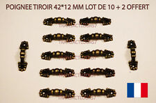 POIGNEE TIROIR COULEUR BRONZE 42*22 LOT DE 10 DECO MEUBLE TIROIR CASIER BOITE