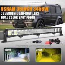 "10D+ OSRAM 36inch 3456W Quad Row LEN LED Light Bar Combo Driving TRUCK Ford 34"""