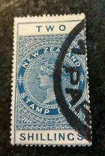 Stamp New Zealand Stamp Duty. Two Shillings . Used. Blue