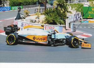 Lando Norris  signed photo. Mclaren 2021. GP Monaco COA. 21X30