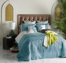 New *Rare* Blissliving Home King Sz Layla Gulf Duvet Cover 3 Piece Set Msrp $395