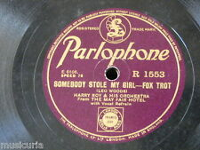78rpm HARRY ROY ORCH somebody stole my girl / hurricane harry