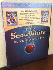 Brand New Snow White and the Seven Dwarfs DVD & Blu-ray Empty SteelBook, Sealed.