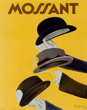 """Cappiello MOSSANT (39"""" x 28"""") - Vintage French Reproduction  (Hats)"""