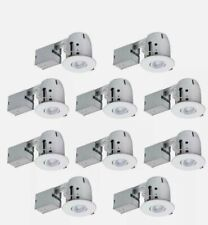 Globe Electric 4 In. White Dimmable Recessed Lighting Kit (10-Pack) Downlight