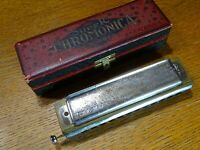 Vintage HOHNER Super Chromonica Chromatic Harmonica Original Box C 12-Hole
