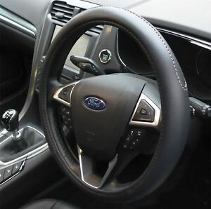 Black Steering Wheel Cover Soft Grip Leather Look for Ford Focus All Years