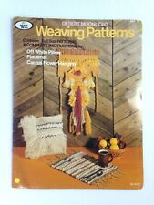 Hazel Pearson crafts Weaving World Patterns Pillow Placemat Wall Hanging 70's