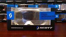 New Scott Tyrant Snowcross Goggles White Silver Chrome Lens 227389-0002015