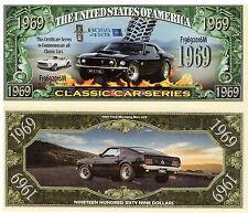 1969 Mustang Boss 429 - Classic Car Series Million Dollar Novelty Money