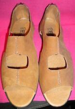 Stegmann German Design  Caramel Suede-Like Sandal. Size 39.