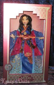 Disney Designer Limited Edition Mulan Doll 20th Anniversary New!