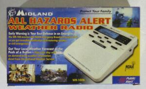Midland All Hazards Alert Weather Radio WR-100B NEW NIB NOAA S.A.M.E. Local