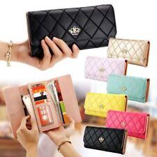 Faux Leather Zip-Around Women's Clutch Wallets