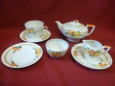 Vintage Myott & Son & Co. Art Deco Tea for One Set