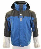 HELLY HANSEN Mens Windbreaker Jacket Size 40 Large Blue Nylon  FR02