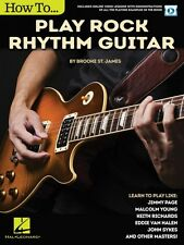 How to Play Rock Rhythm Guitar - Book with Online Video Lessons Guitar 000146261
