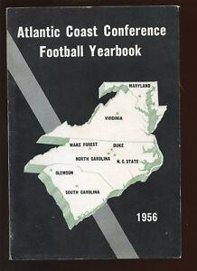1956 NCAA Atlantic Coast Conference Football Yearbook EX