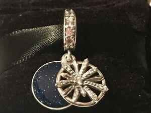 Authentic Pandora Dazzling Wishes,Clear CZ & Blue Enamel 79751CZ  Dangle Charm
