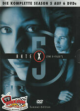 AKTE X - 5. Staffel - David Duchovny & Gillian Anderson - 6 x DVD SET