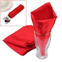 10Pcs Polyester Table Linen Napkins Dinner Cloth Wedding Party Home Decor