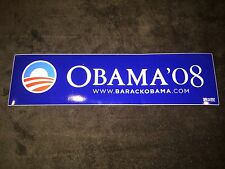Barack Obama Official Blue 2008 President Campaign Bumper Sticker