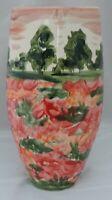 Anita Harris Homage to Monet Tree-lined Impressionist Landscape Vase - signed...