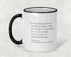 Far From the Madding Crowd Thomas Hardy feminist Book Quote Mug Literature Gift