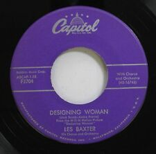 Jazz 45 Les Baxter - Designing Woman / Blue Echo On Capitol